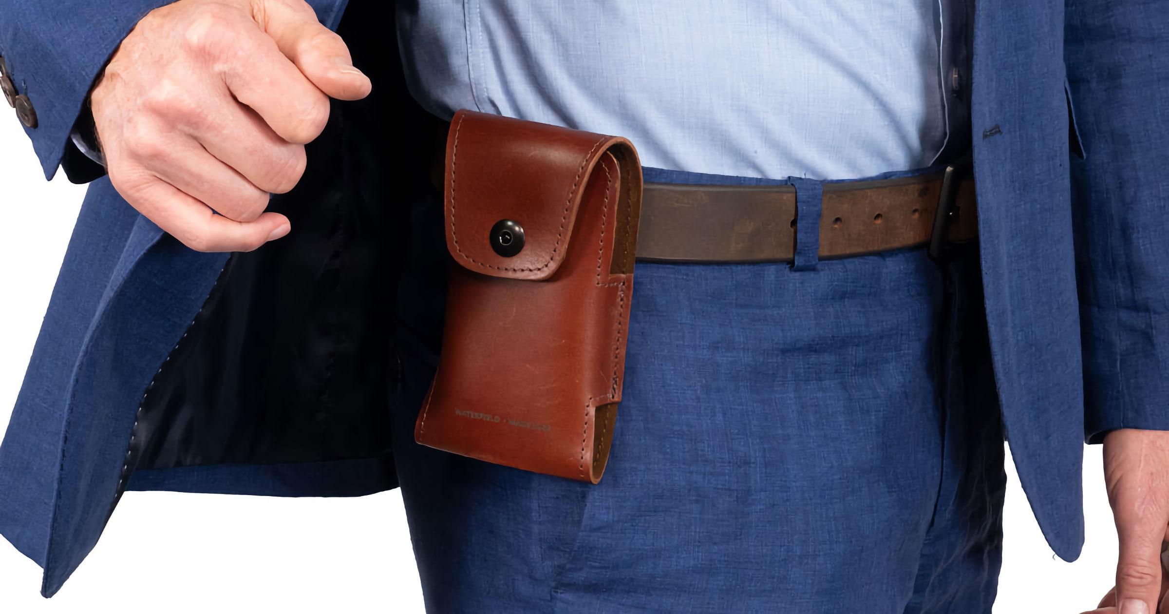 latigo leather iPhone holster