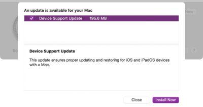 mac device support update