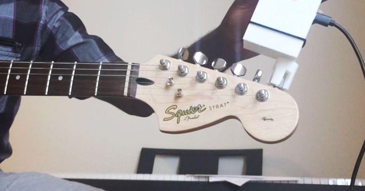 raspberry pi automatic guitar tuner