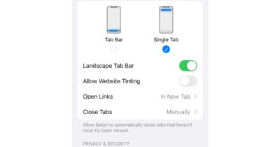 website tinting off Safari iOS 15