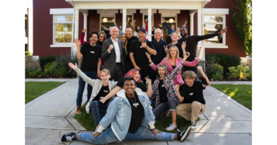 Tim Cook with LGBTQ+ resource center Encircle