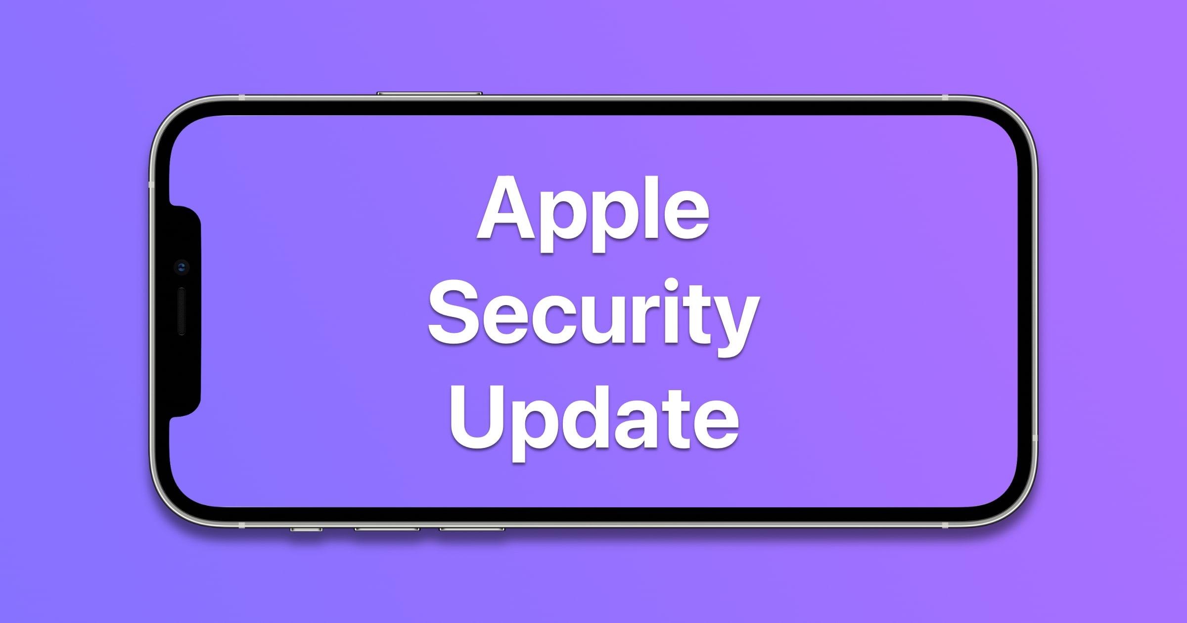 apple security update
