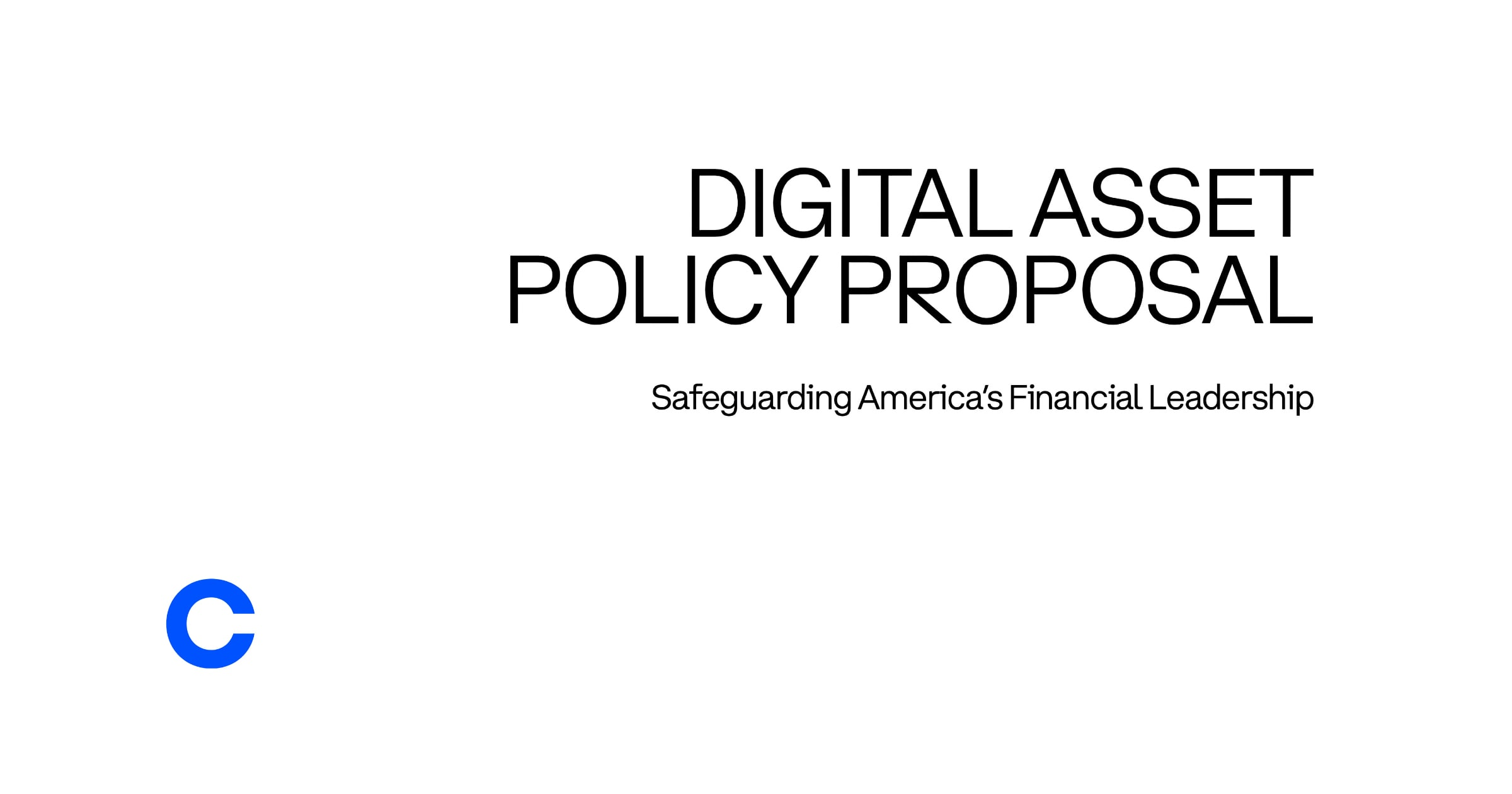 coinbase digital asset policy proposal