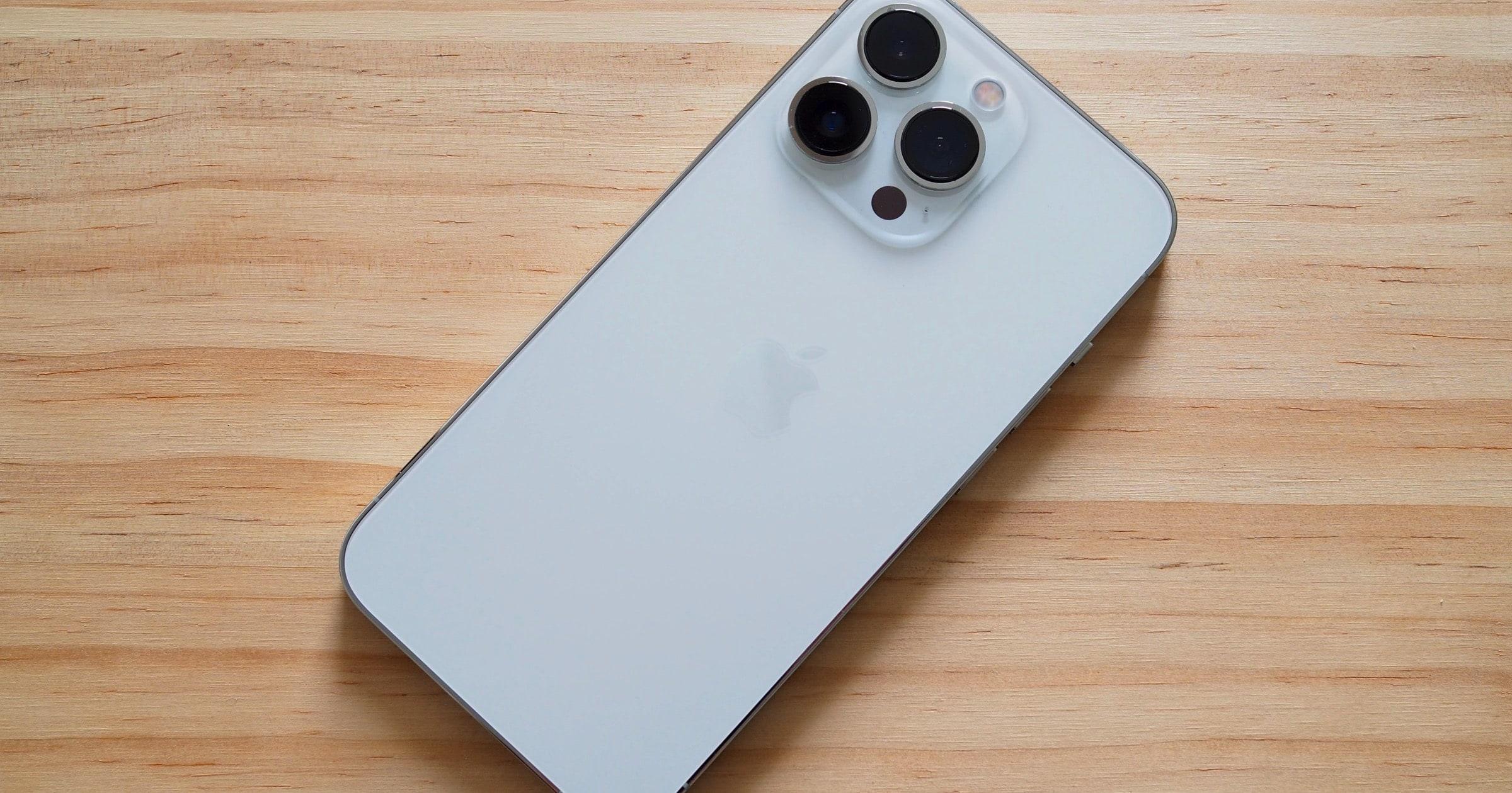 iPhone 13 wood background