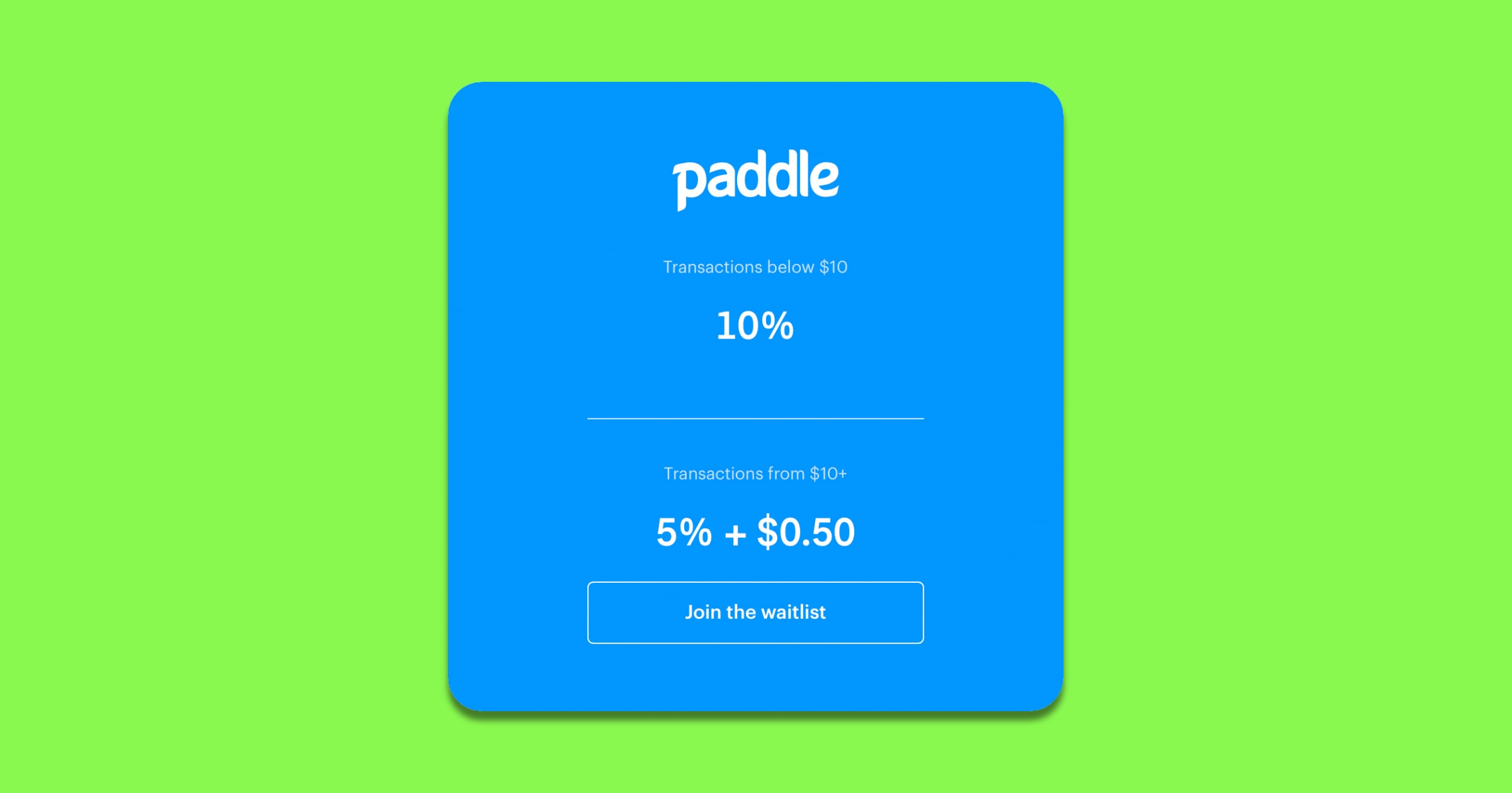 paddle payment system