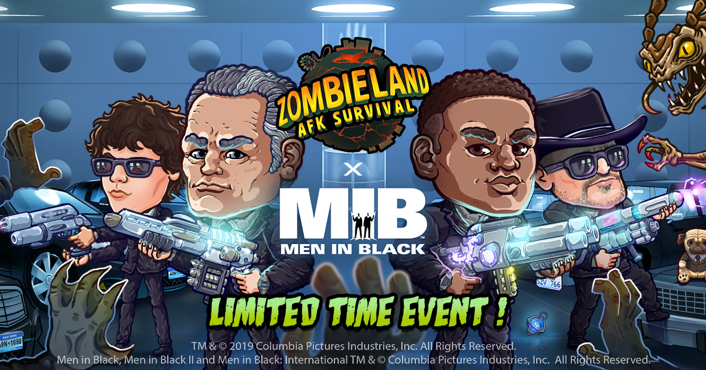 Men In Black Characters Arrive in 'Zombieland: AFK Survival' Game