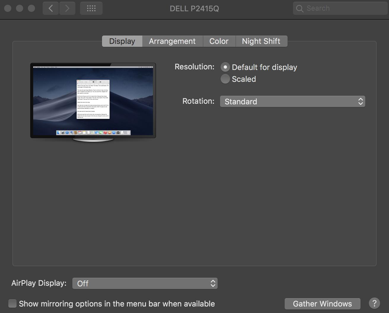 Hidpi MacOS on Dell P2415Q – Mac Questions – The Mac Observer Forums