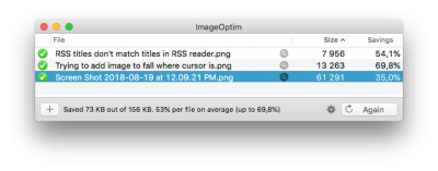 Smaller file size