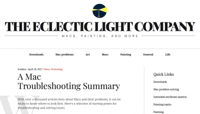 A Mac Troubleshooting Summary