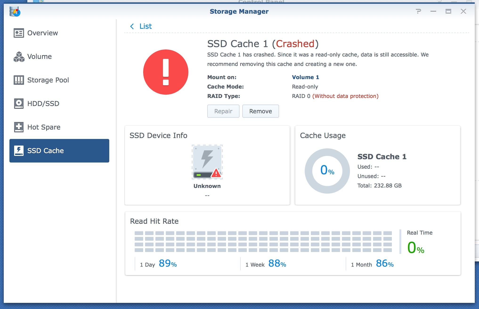 My Synology DiskStation's SSD Cache has Crashed – NAS Q&A