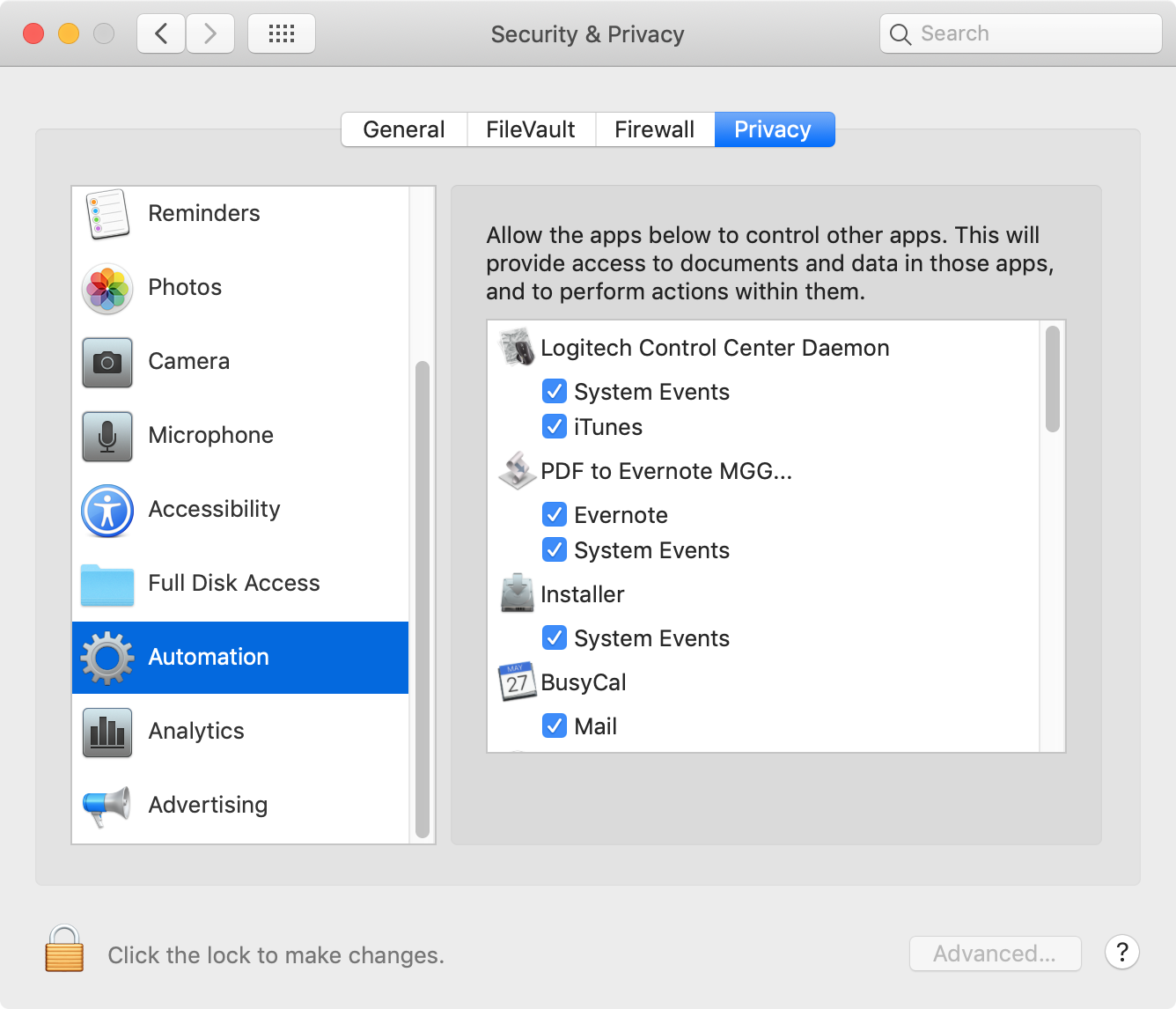 "how to deal with ""Not authorized to send apple events to finder"