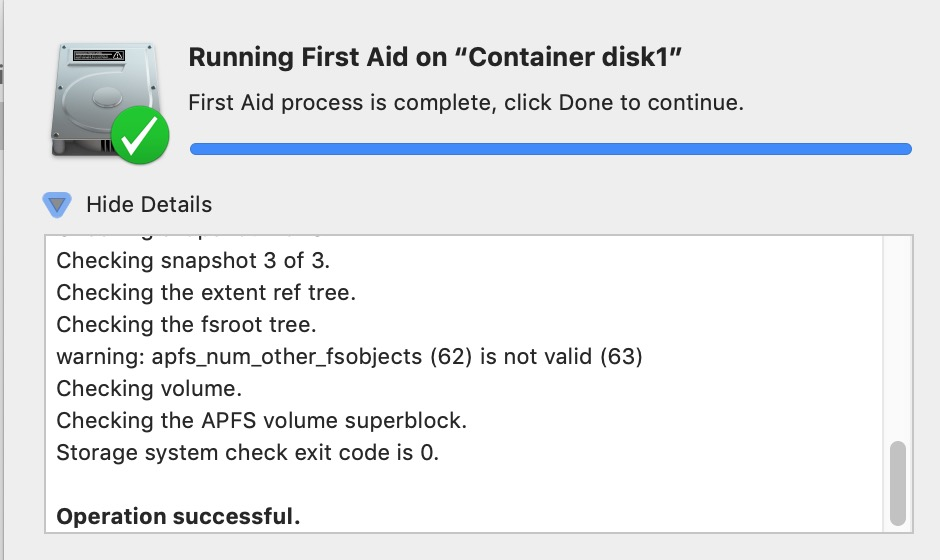 Is there any tool yet that repairs APFS containers? – Mac