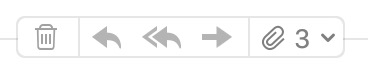 Mail app hidden icons