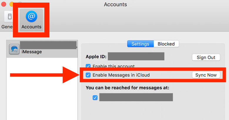 enable messages in icloud on mac High Sierra 10.13.5
